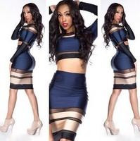 2014 new hot sale spandex bodycon bandage dress sexy club wear clubwear dress bodysuits women free shipping TY084