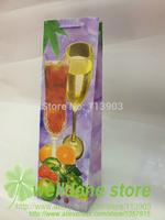 wholesale 12pieces/lots printed 40*11*10cm waterproof of wedding party wine bottle gift bags