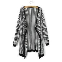 Wholesale women's LAaD0 2014 new fashionable jacquard stripe Cardigan Sweater Girl