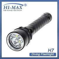 50pcs/lot 2013 Hot sale !4000Lm 100m Diving 3xCREE XML U2 LED Flashlight Torch underwater fishing light
