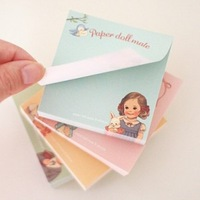 cute kawaii mini paper doll mate stickers bookmark stick scrapbooking memo pads sticky notes school supplies wholesale