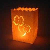 Free shipping 16*11*9cm  100pcs/lot HIGH QUALITY! 80g flame retardant paper clover luminary candle bag