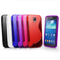 5 colors S line Wave Soft Tpu Gel Back Skin Cover Case for Sumsang Galaxy S4 Active I9295 black, deep blue, purple, red, white
