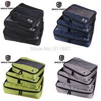 Pro Fashion 3 Size Travel Luggage Packing Cube Bag Set Clothes Organizer Storage 4 Colors