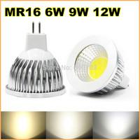 New High power MR16 12V 6w 9w 12w led Dimmable cob spotlight lamp bulb warm cool pure white (also have E27 GU5.3 GU10)