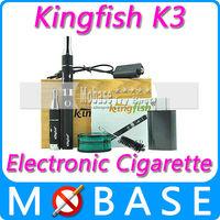 Kingfish K3 Best E Cigarette Electronic E-cig Cigarro for Dry Herb Vaporizer K3 Starter kit Atomizer with Pulverizator Black
