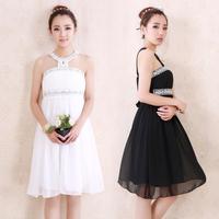 New Design 2014 Prom Dresses diamond paillette halter high wais Tulle Lace Party Dress vestidos de fiesta Formal Evening Gowns