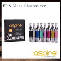 Original  eGo 1.8ohm bottom Dual Coil clearomizer Aspire ET-S BDC atomizer ET-S BDC glass Version