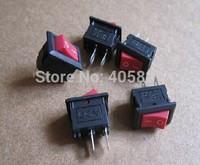Mini red rocker switch 2pins 15*10 without light 3A/250V 6A/125V