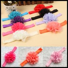 moda niña pelo flor encaje diadema banda hairband pelo 12 colores bb-101 envío de la gota(China (Mainland))