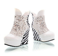 NEW arrive winter and autum ankle boots glitter pu leather winter boots top quality fasion women shoes 92