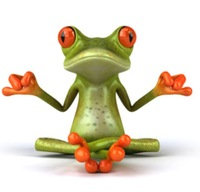 ETIE YTQW016 Reflective Waterproof Funny Frog Yoga Decal Sticker  for Car/Wall/Glass/Tablet/Cabinet 20cm X 15.5cm