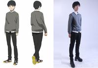 New high quatliy Tokyo ghouls Ken Kaneki daily sweater Cosplay Costume suit