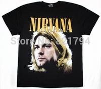 NIRVANA KURT COBAIN Rock Band t shirt Men T-shirts100% Cotton Short sleeve16 Colors Customized Logo Free Shipping
