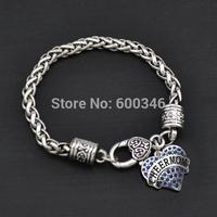 Yiwu design top sale cheermom heart crystal charms pendants bracelets free shipping