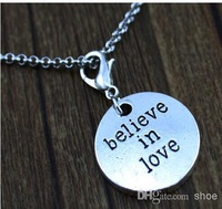 Wholesale - 20pcs believe in love Dangle TAG for Origami Owl Lockets Floating tagges Dangles