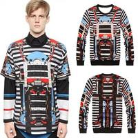 Hot!2014 spring Versa Hip-hop style men women's catwalk Robot sound 3d print pullovers GIV Brand Galaxy Sweatshirts Hoodies Tops