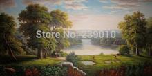 Grátis frete atacado pintura de paisagem cópias da lona pintura a óleo clássica paisagem russa pintura a óleo sobre tela(China (Mainland))