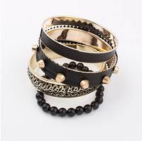 2014 Newest Korea design bracelets&bangles/New arrival bangles jewelry,Retro/vintage punk Fashion Star Bracelet XY-B434