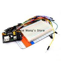 3.3V/5V Breadboard power module+Quality mini bread board kit +65 Flexible jumper wires