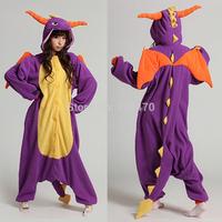 Spyro Dragon Unisex Pajamas Adult Anime Cosplay Costume Sleepsuit Cute