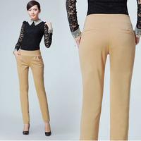 2014 new autumn plus size slim skinny harem pants women casual high waist elastic waist soft women trousers free shipping