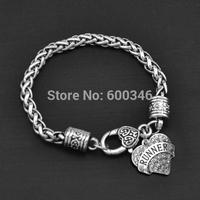Heart crystal charm runner word engraved bracelet & bangle