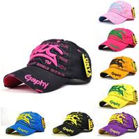 New Arrival 2014 Fashion letter Bat Embroidery Baseball Caps Printed Snapback Hats Hip-Hop korea Women's Hat Candy Colors Cap