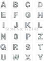 Wholesale 130pcs/lot 10mm A-Z chrome slide letter English Alphabet
