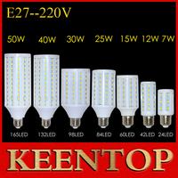 High Power AC 220V 110V 7W 12W 15W 25W 30W 40W 50W E27 E14 5730 5630 SMD Led Corn Bulb Spotlight Led Lamp Ceiling Light