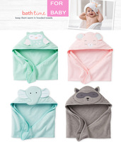 2014 New Carter's Baby Boy Girl Cotton Cute Animal Costumes Hooded Blankets Infant Terry Bath Towel care clothing 76*76cm YW