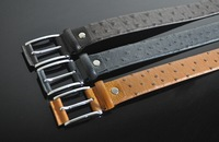 Wholesale Genuine Leather Belt Men's Casual Waist Belt With Pin Buckle 3 Colors Available