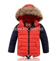 free shipping 2014 brand  Boys down coat down jacket winter children outerwear coats jacket  duck Down Parkas boys 6817