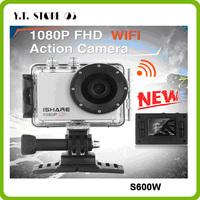 DHL Free Shipping hot selling iShare S600W WiFi Action Sport Camera 1080P FHD 30M Waterproof Helmet Sport Video Camera Mini DV