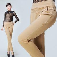 Hot sell 2014 new fashion skinny slim harem pants women casual plus size high waist elastic waist women trousers free shipping