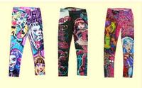 6-16T High Quality 2014 Brand new MONSTER HIGH Children's Pants Girl's Leggings Kids Casual Pencil Pant
