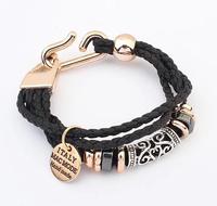 2014 Fashion hot women Fashion knitting twist bracelets Bohemian vintage bracelet XY-B451