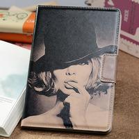 For apple black and white mini 1 cartoon protective case mini 2 ultra-thin sleep cover