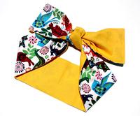 Fashion vintage double faced color block decoration paper cut cutout print ribbon personalized bandanas