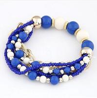 2014 Fashion Women's Fashion Bohemian Style Beads Multi-layered Bracelet Bracelets XY-B445