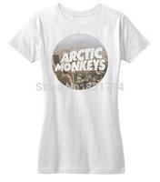 Arctic Monkeys Cityscape Hipster Indie Rock Music Shirt 2014 New Women T-shirt 100% Cotton Customized Logo Free Shipping