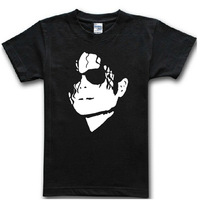 New 2014 Fashion men's T-shirt print King of Rock and Roll Michael Jackson t shirt for men Boy T shirt free shipping