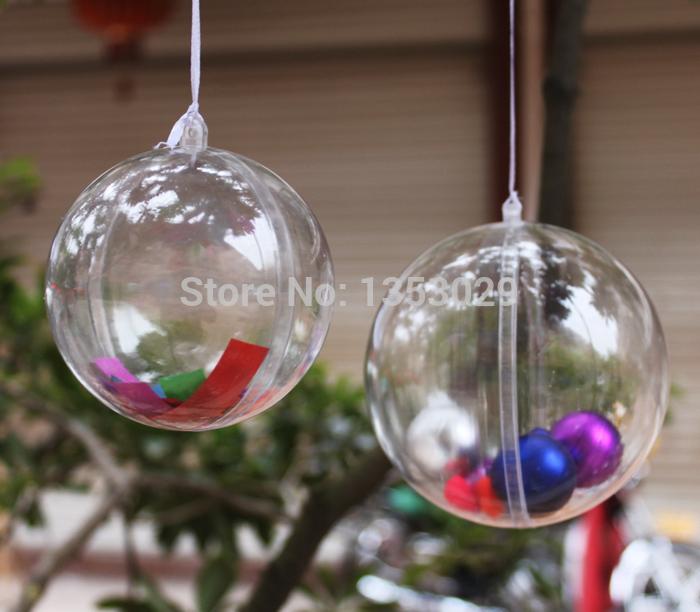 елки из пластмассовых шаров фото