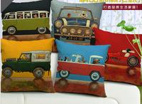 decorative cushion covers /  100% High Quality Cotton & Linen Pillow Cover Cushion Case,dog's life modernization cushion cover