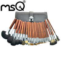 Professional Animal  Hair 28Pcs Makeup Brush Set Kit Makeup Brushes & tools Brand Make Up Brush Set Case 5sets/lot  !