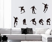 Removable vinyl wall sticker for kids rooms home decor decals adesivos de parede stickers Skateboard