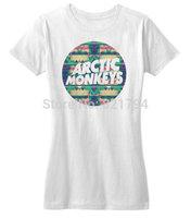Arctic Monkeys Modern Hipster Indie Rock Music Shirt 2014 New Women T-shirt 100% Cotton Customized Logo Free Shipping