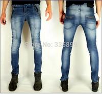 2014 new men's jeans / men's fashion casual Korean wild personality flip AliExpress selling jeans / brand jeans long jeans