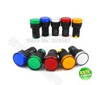 20pcs Mixed group of  220VAC 16mm LED Power Indicator Signal Light