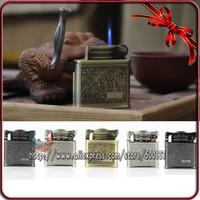 Fortune Flower Refillable Jet Flame Cigarette Cigar Butane Gas Lighter